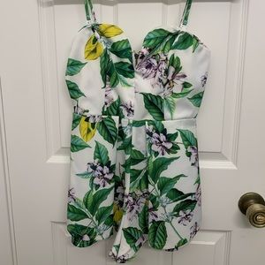 LF Stores Tropical Vacation Floral Romper